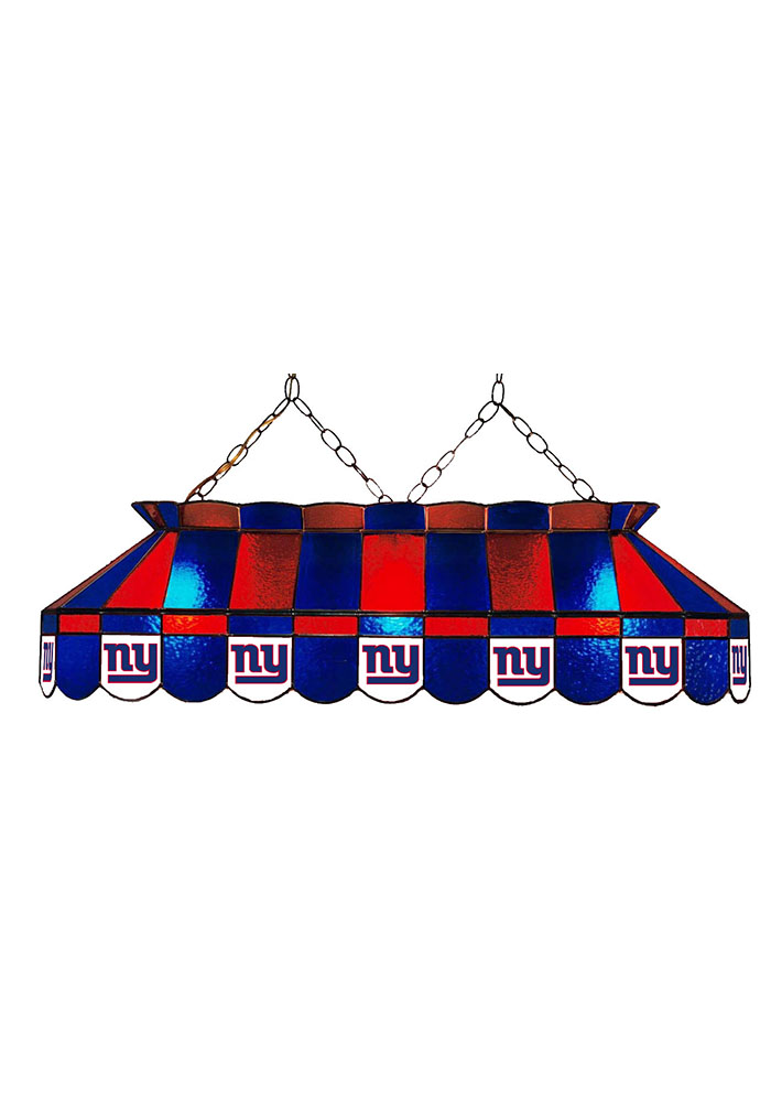 New York Giants 40 Inch Stained Glass Red Billiard Lamp - Image 1