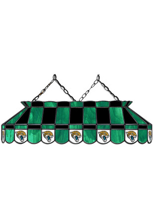 Jacksonville Jaguars 40 Inch Stained Glass Teal Billiard Lamp