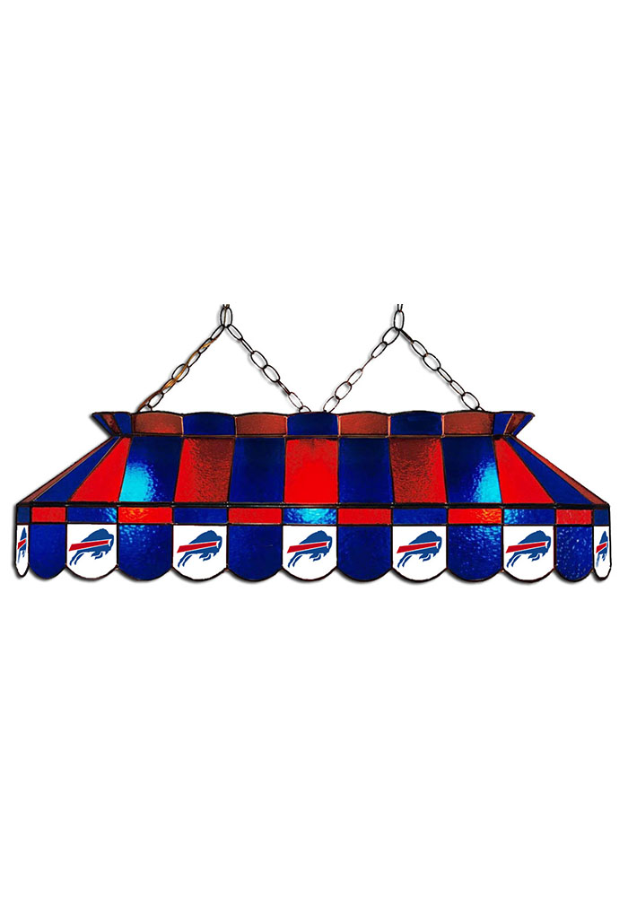 Buffalo Bills 40 Inch Stained Glass Red Billiard Lamp - Image 1