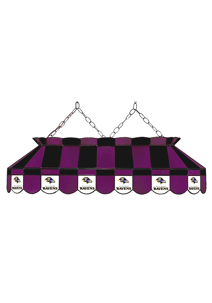 Baltimore Ravens 40 Inch Stained Glass Purple Billiard Lamp - Image 1