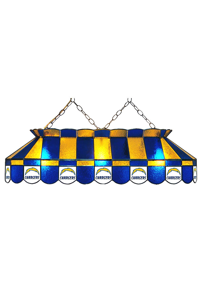 San Diego Chargers 40 Inch Stained Glass Blue Billiard Lamp 1930559