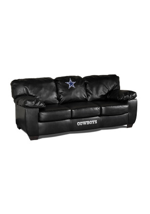 Dallas Cowboys BLACK LEATHER CLASSIC SOFA Sofa