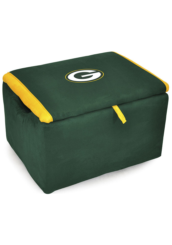 Green Bay Packers FAN FAVORITE STORAGE BENCH Laundry Hamper - Image 1