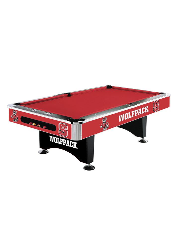 NC State Wolfpack 8' POOL TABLE Pool Table - Image 1