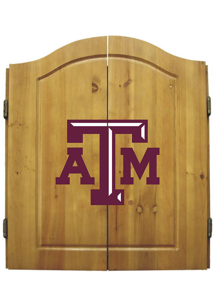 Texas A&M Aggies DART CABINET Dart Board Cabinet - Image 1