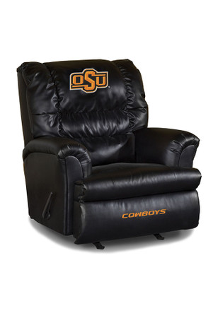 Oklahoma State Cowboys Leather Big Daddy Recliner
