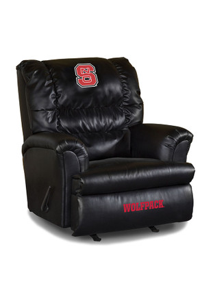 NC State Wolfpack Leather Big Daddy Recliner