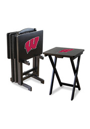 Wisconsin Badgers TV TRAYS W/STAND Table Lamp