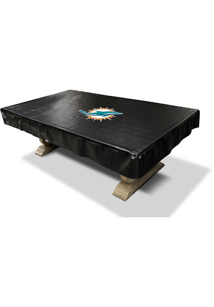 Miami Dolphins 8 Foot Deluxe Pool Table Cover Pool Table - Image 1