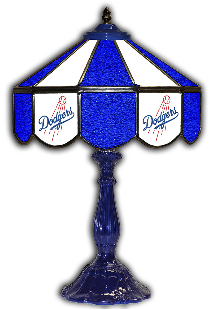 Los Angeles Dodgers 21 Inch Glass Pub Lamp - Image 1