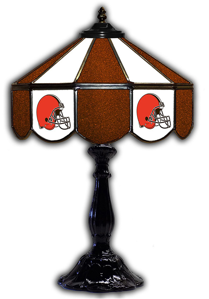 Cleveland Browns 21 Inch Glass Pub Lamp - Image 1