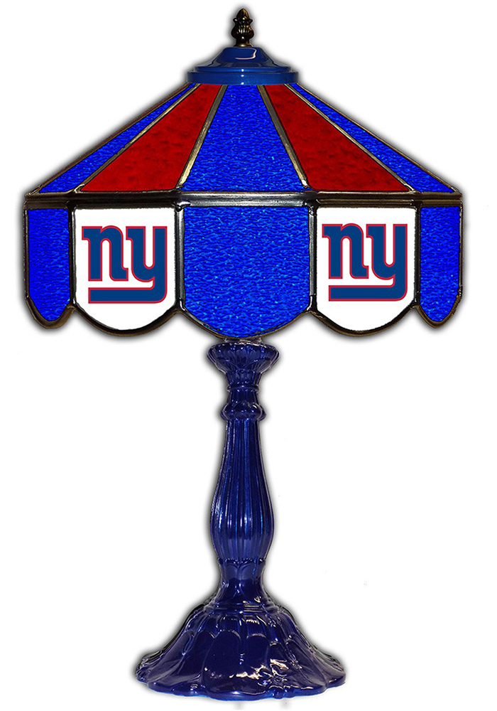 New York Giants 21 Inch Glass Pub Lamp - Image 1