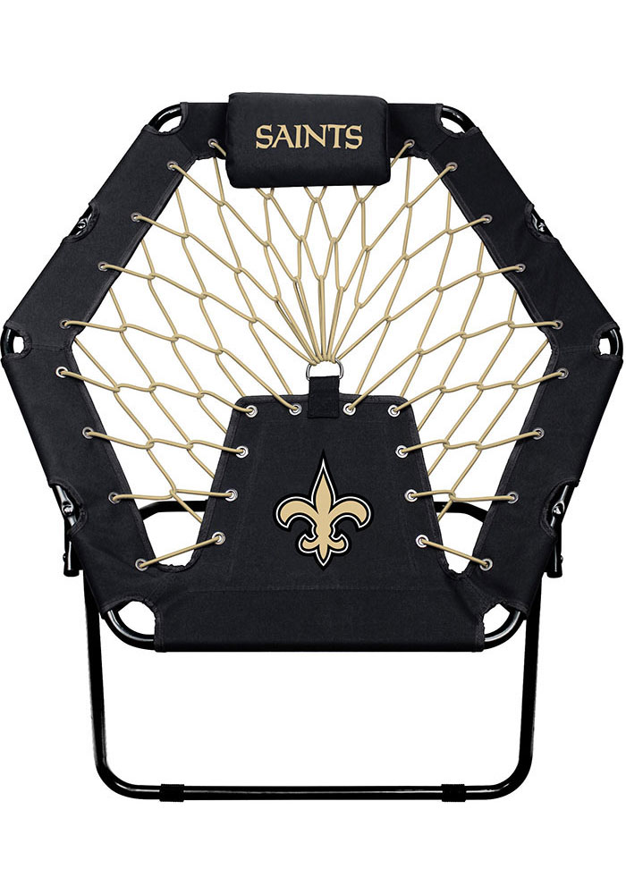 New Orleans Saints Premium Black Bungee Chair - Image 1