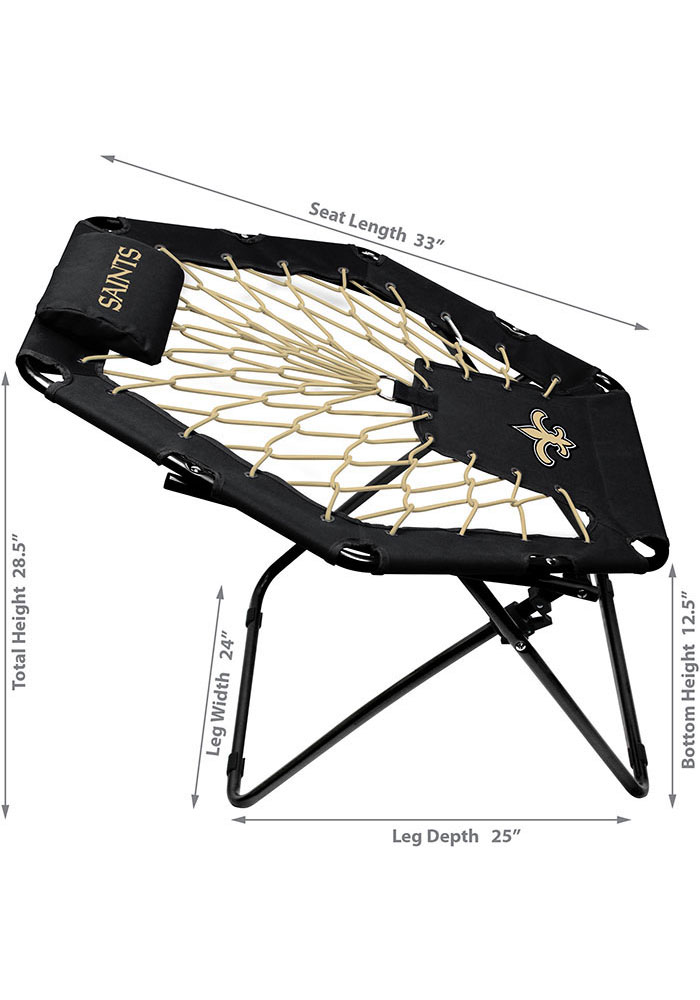 New Orleans Saints Premium Black Bungee Chair - Image 2