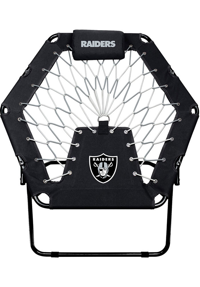 Oakland Raiders Premium Black Bungee Chair - Image 1