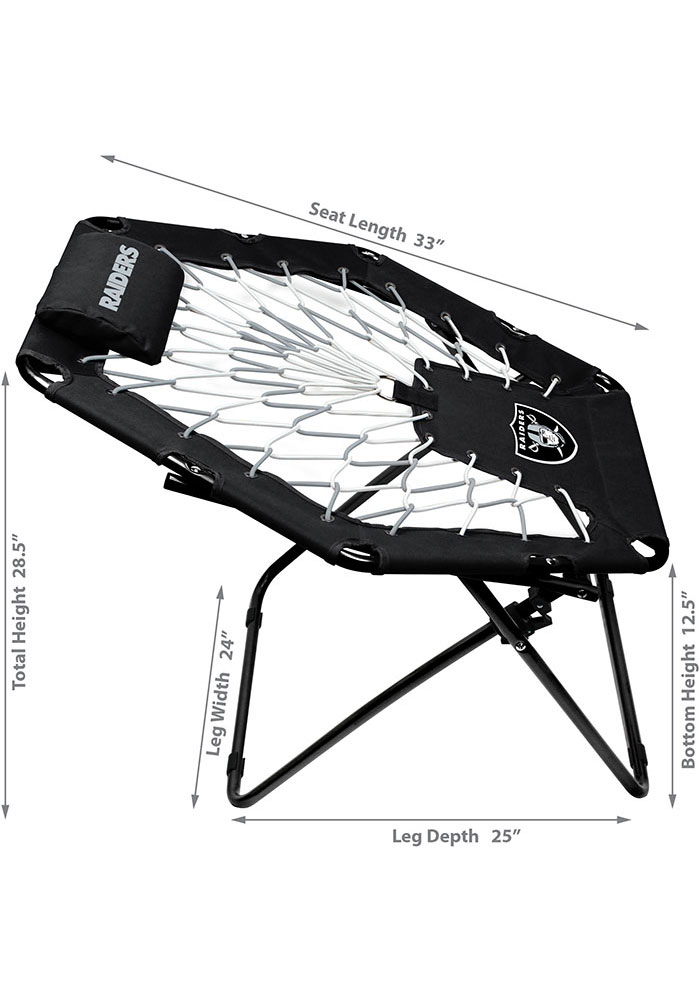 Oakland Raiders Premium Black Bungee Chair - Image 2