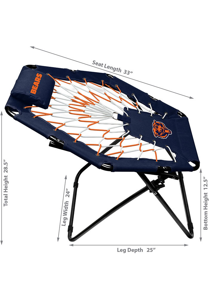 Chicago Bears Premium Navy Blue Bungee Chair - Image 2