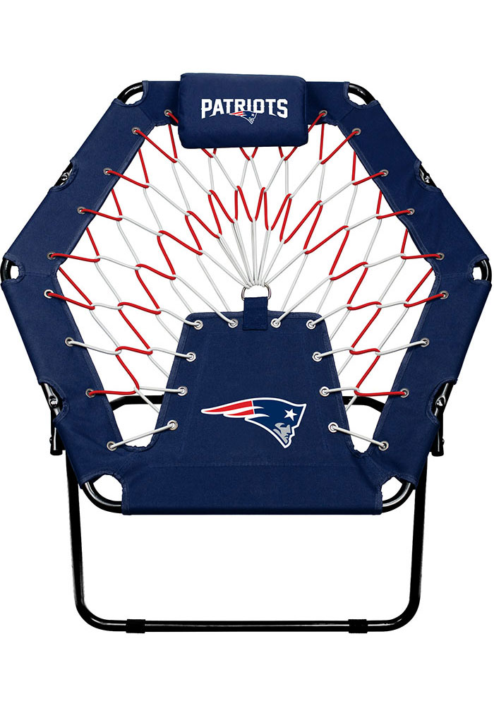 New England Patriots Premium Navy Blue Bungee Chair - Image 1