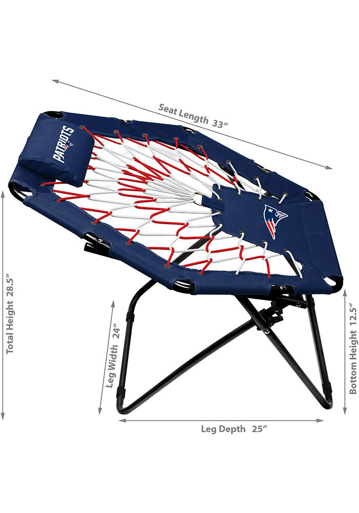 New England Patriots Premium Navy Blue Bungee Chair - Image 2