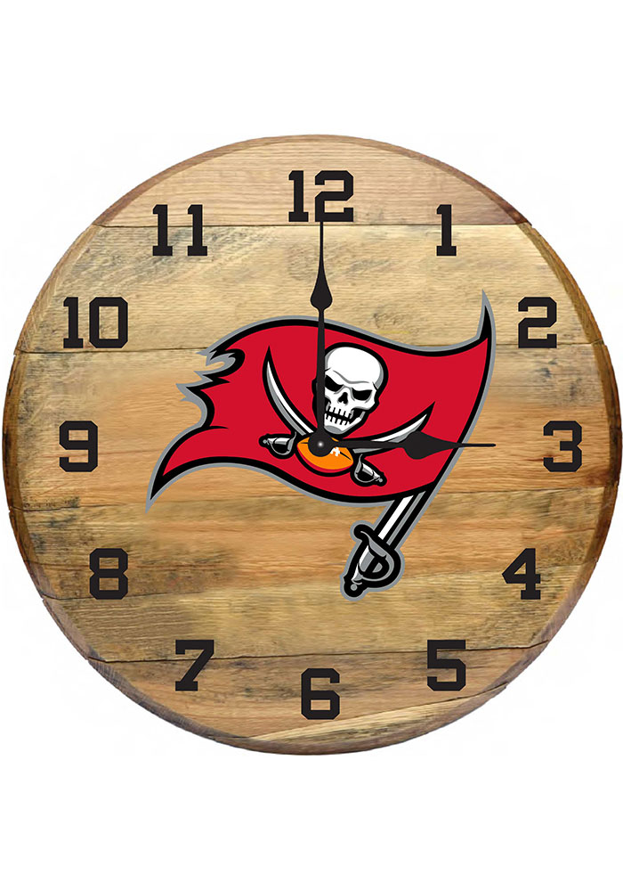 San Francisco 49ers Oak Barrel Wall Clock - Image 1