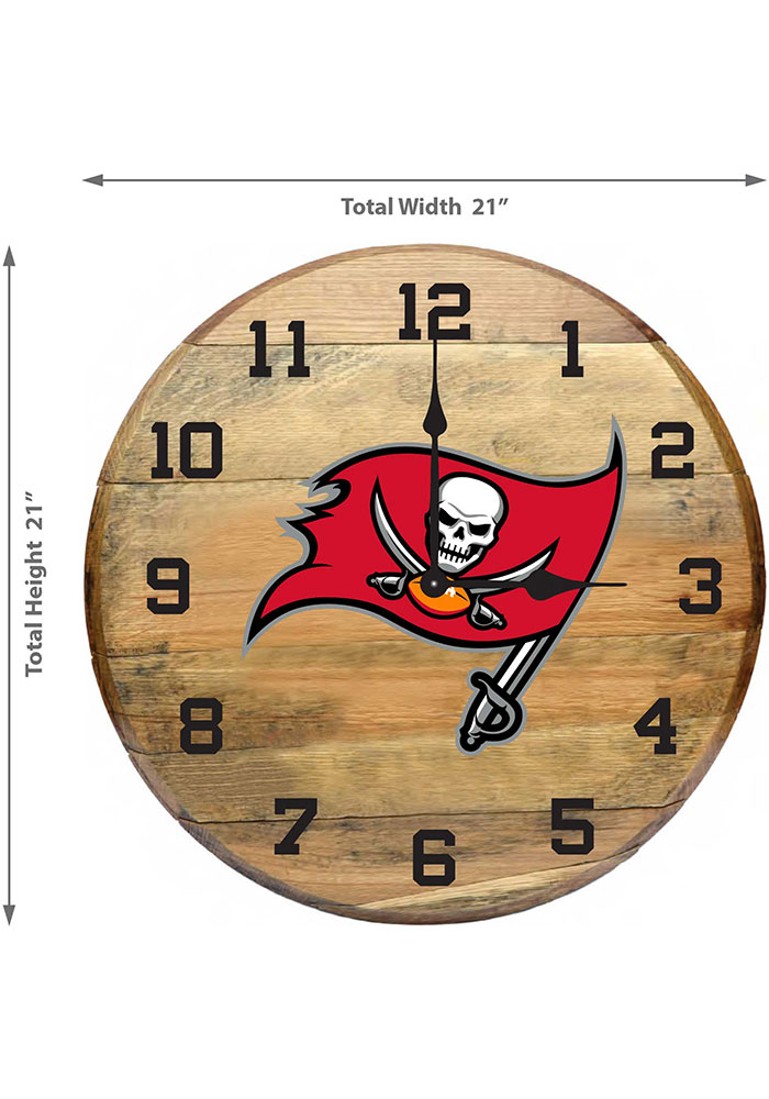 San Francisco 49ers Oak Barrel Wall Clock - Image 2