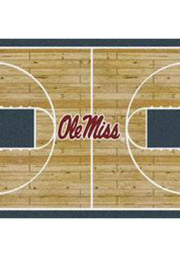 Ole Miss Rebels 3x5 Court Interior Rug - Image 1