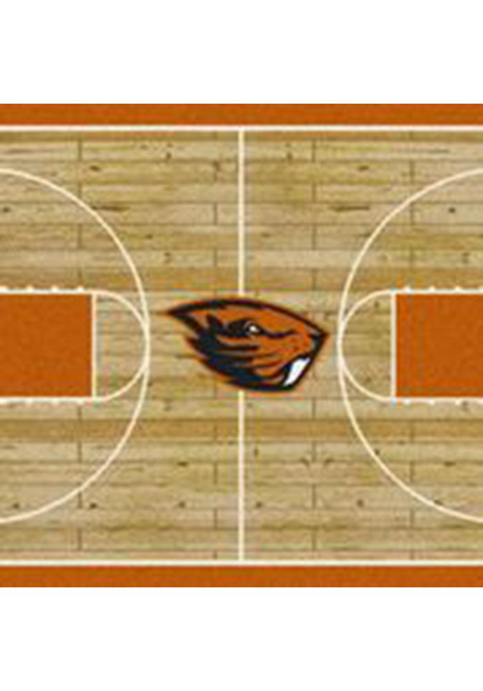 Oregon State Beavers 3x5 Court Interior Rug - Image 1