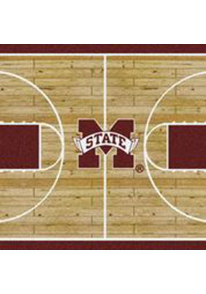 Mississippi State Bulldogs 5x7 Court Interior Rug - Image 1