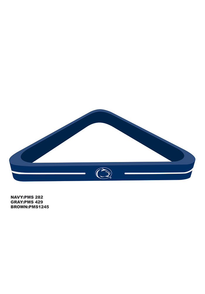 Penn State Nittany Lions Wood Team Color Billiard Ball Rack - Image 1