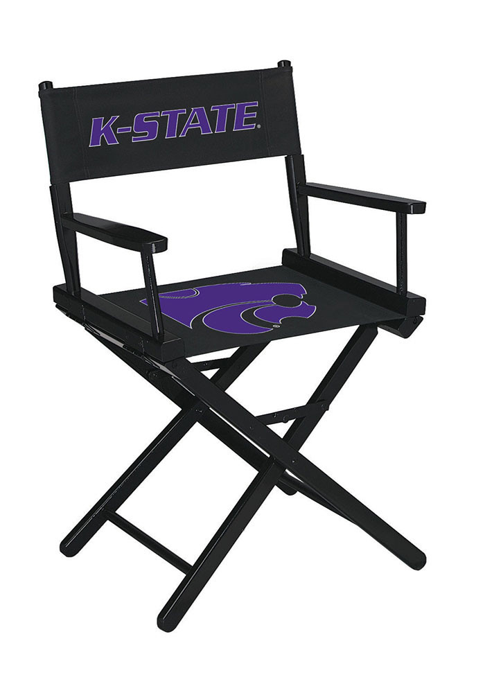 K-State Wildcats Table Height Director's Chair - Image 1