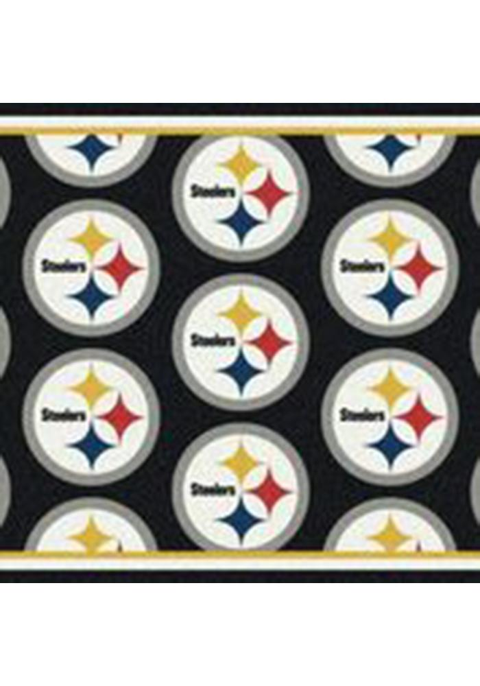 Pittsburgh Steelers 7x10 Repeat Interior Rug - Image 1