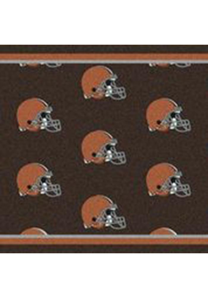 Cleveland Browns 10x13 Repeat Interior Rug - Image 1