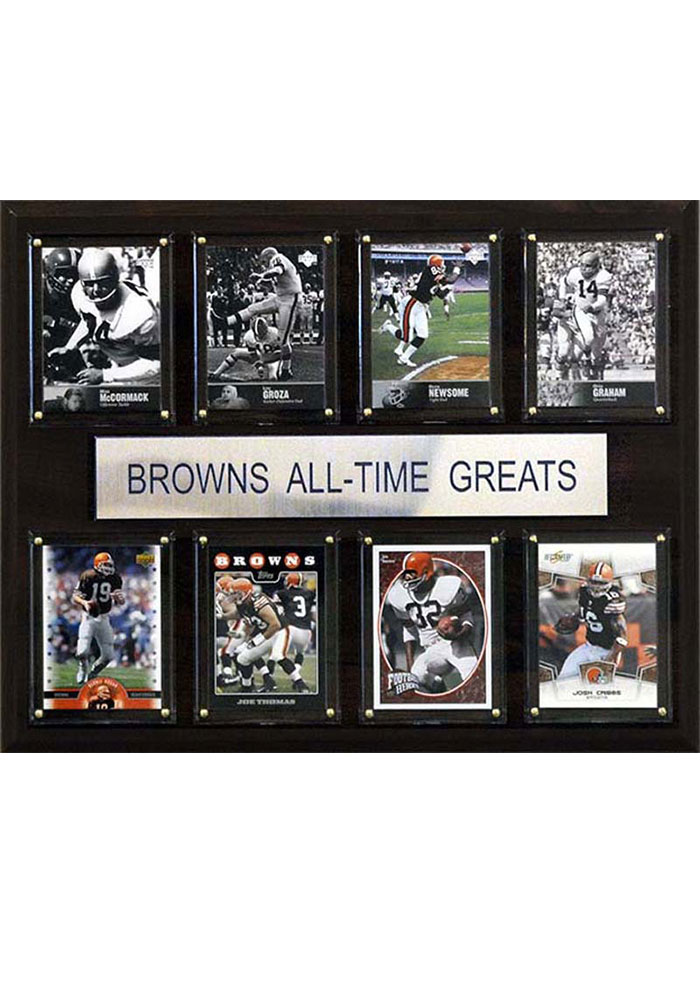 Cleveland Browns 12x15 All-Time Greats Player Plaque - Image 1