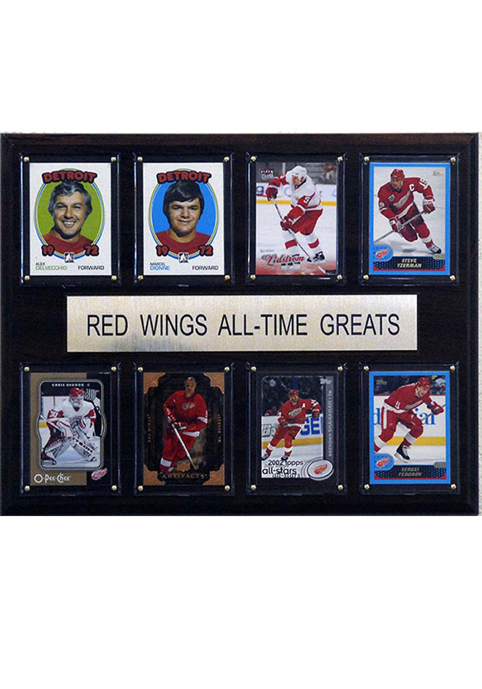 Detroit Red Wings 12x15 All-Time Greats Player Plaque - Image 1