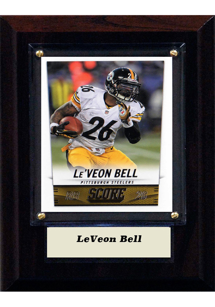 Le'Veon Bell Pittsburgh Steelers 4x6 Player Plaque - Image 1