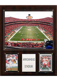 Kansas City Chiefs Stadium Shot 12X15 Plaque