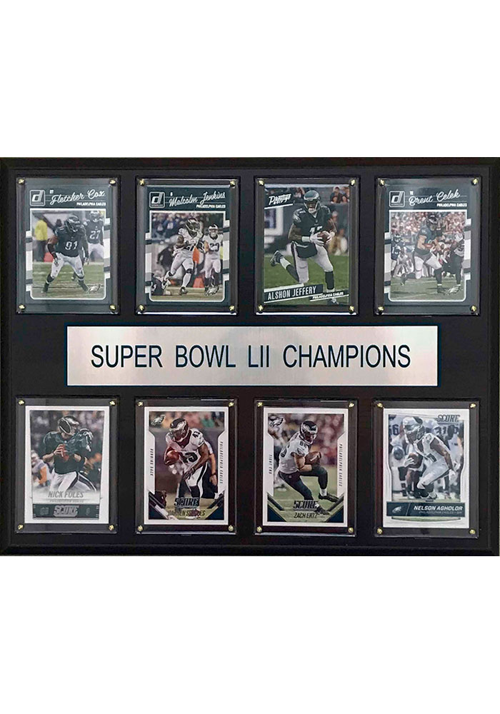 Philadelphia Eagles Super Bowl 52 Champions 12x15 Plaque - Image 1