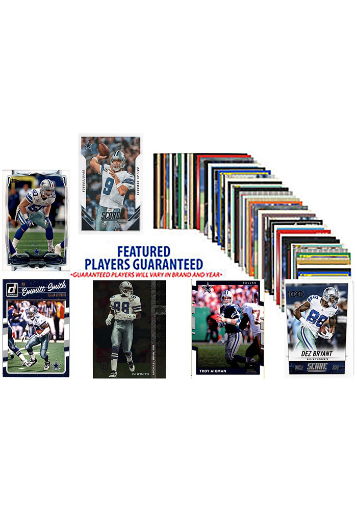 Dallas Cowboys 50 Pack Collectible Football Cards