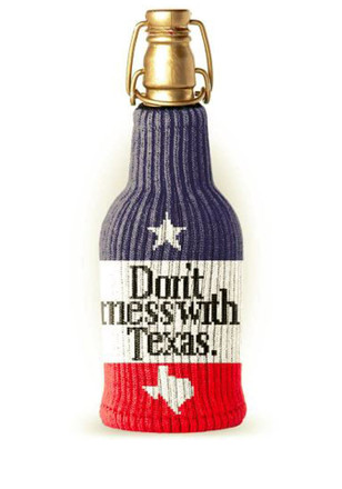 Texas Don't Mess With Texas Koozie