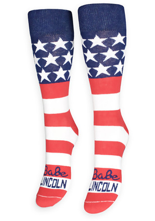 Team USA Mens Red Babe Lincoln Crew Socks