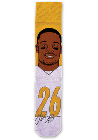 Le'Veon Bell Mens Yellow Player Crew Socks