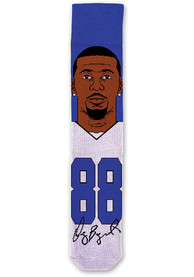 Dez Bryant Mens Blue Player Crew Socks