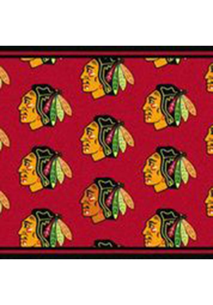 Chicago Blackhawks 7x10 Repeat Interior Rug - Image 1