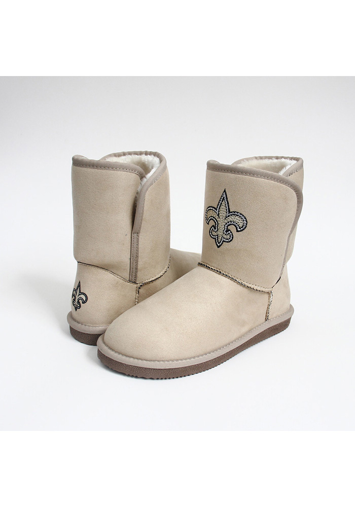 New Orleans Saints Brown Slip On Boot Womens Shoes - Image 1