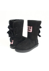 New York Giants Womens Bow Boot Shoes - Black