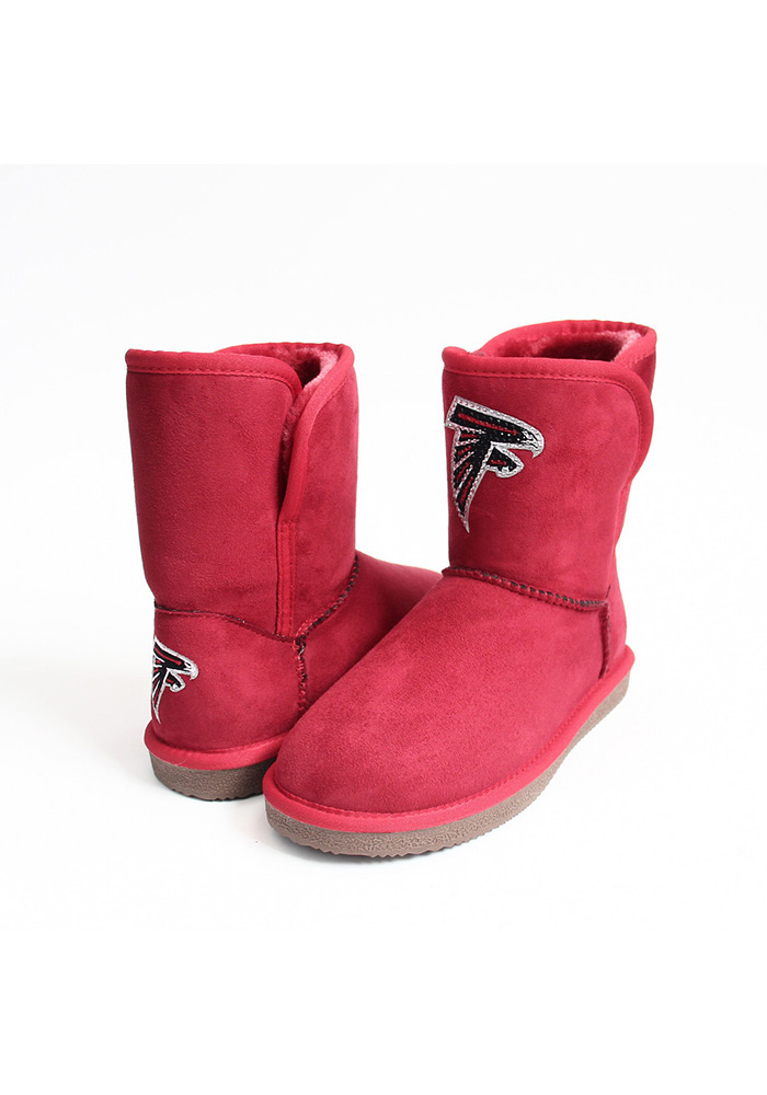 Atlanta Falcons Red Slip On Boot Womens Shoes - Image 1