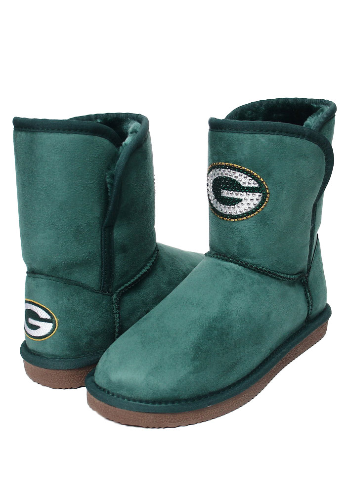 Green Bay Packers Green Slip On Boot Womens Shoes - Image 1