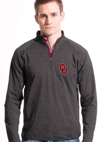 Oklahoma Sooners Levelwear Metro 1/4 Zip Pullover - Charcoal
