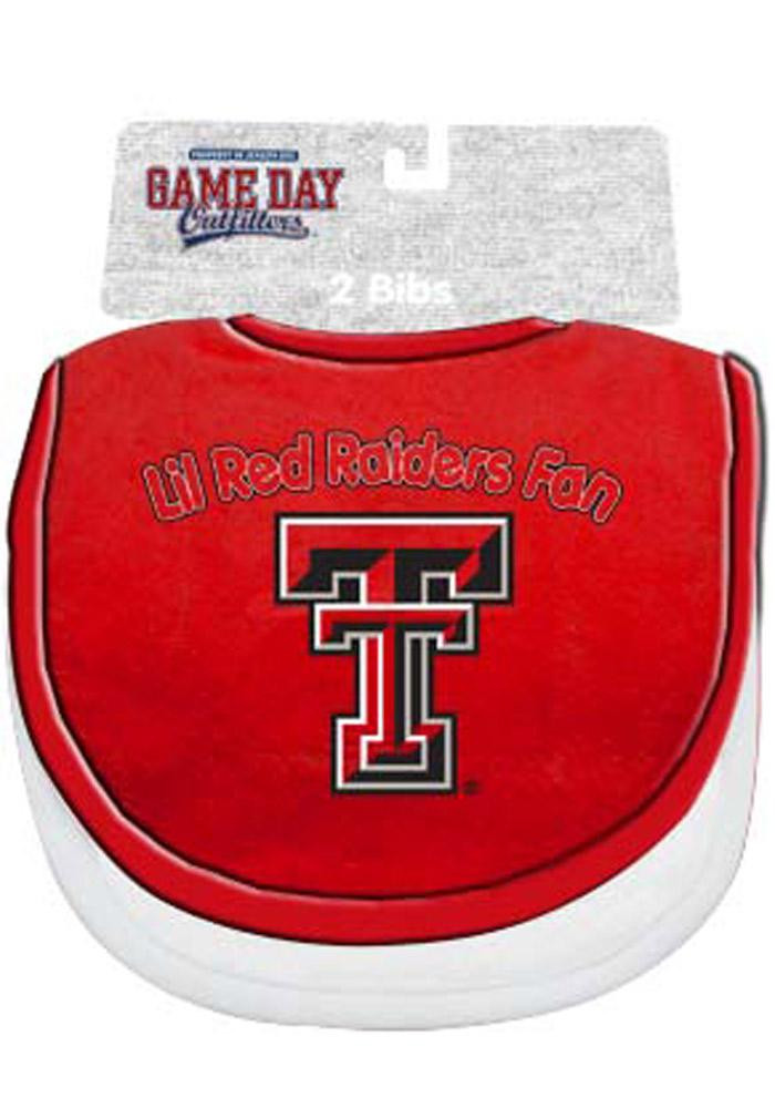 Texas Tech Red Raiders 2 Pack Baby Bib - Image 1