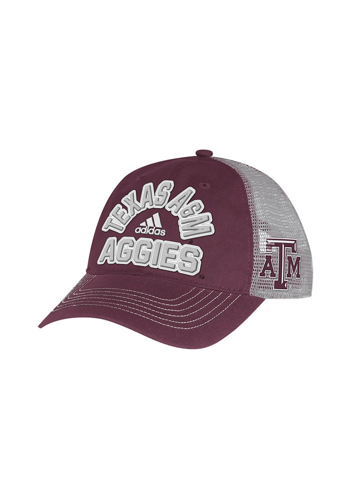 Adidas Texas A&M Aggies Meshback Slouch Adjustable Hat - Maroon - Image 1